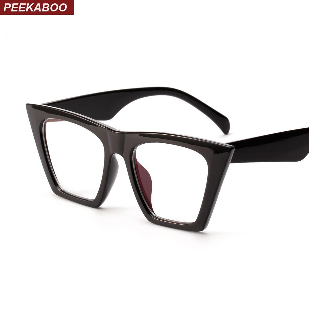 Compre Peekaboo Negro Ojo De Gato Gafas Marcos Para Mujeres ...
