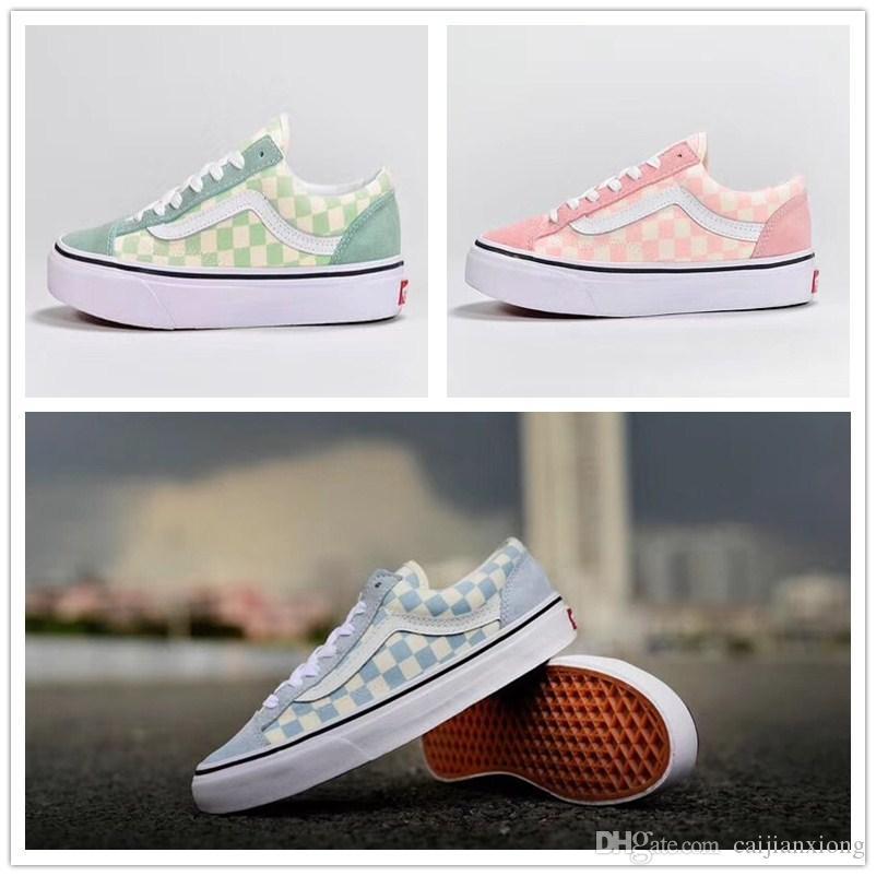 2018 Vans Old Skool OG Womens Casual Shoes Top Quality Pretty Vans Shoes Canvas zapatillas de deporte Sport Sneakers Eur 35-44 cheap best sale hPxmXHZ7u