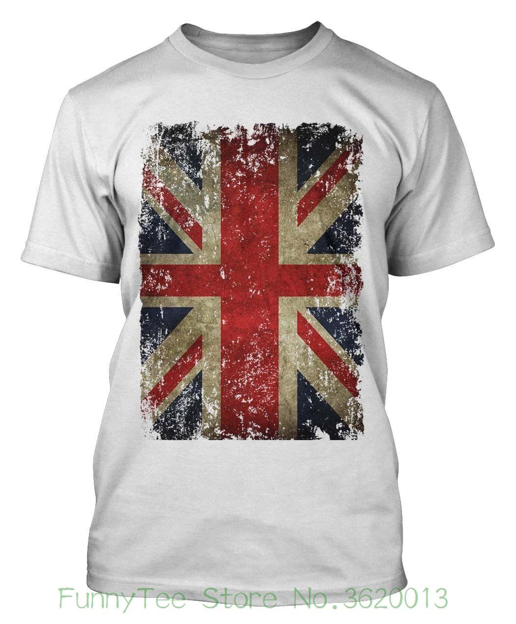 Women S Tee Union Jack T Shirt Distressed Grunge Vintage Uk British Flag  Great Britain T Shirt Cheap Wholesale Cute T Shirts Nerd T Shirts From ... 9196410b574b