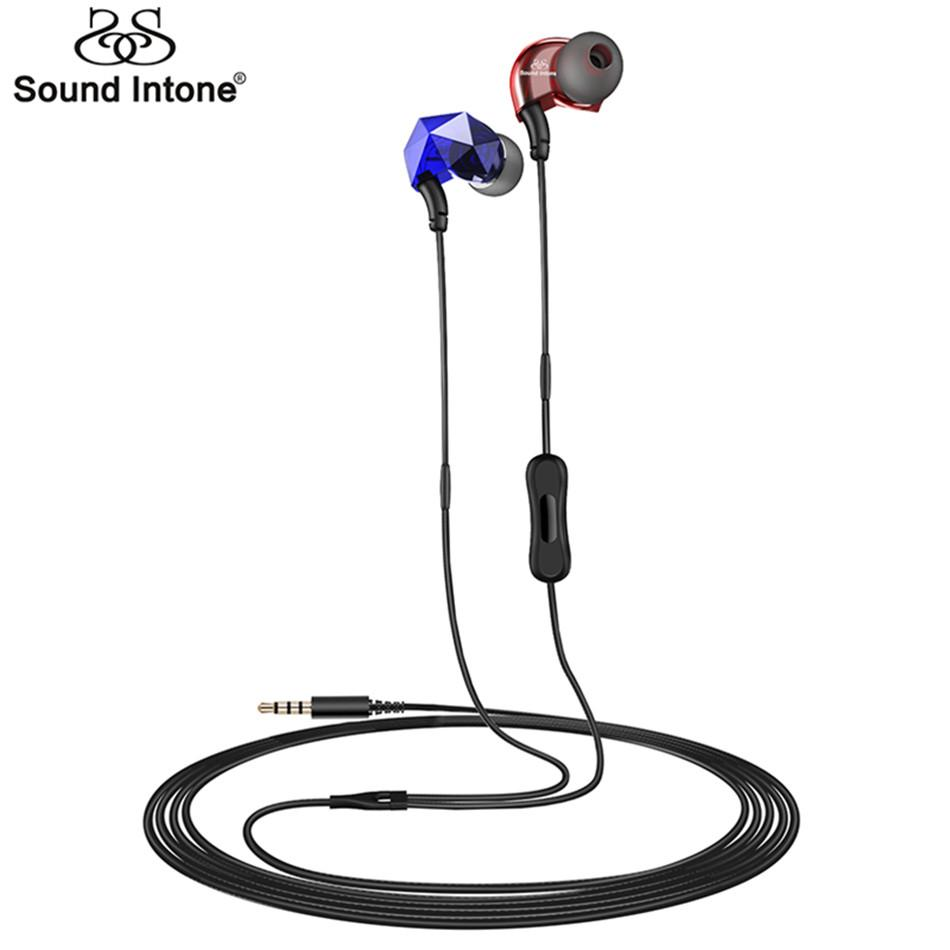 Sound Intone E6+ Earphones with Active Noise CancellingIn-ear Earphone with  Microphone Volume Control Headset for Xiaomi Android