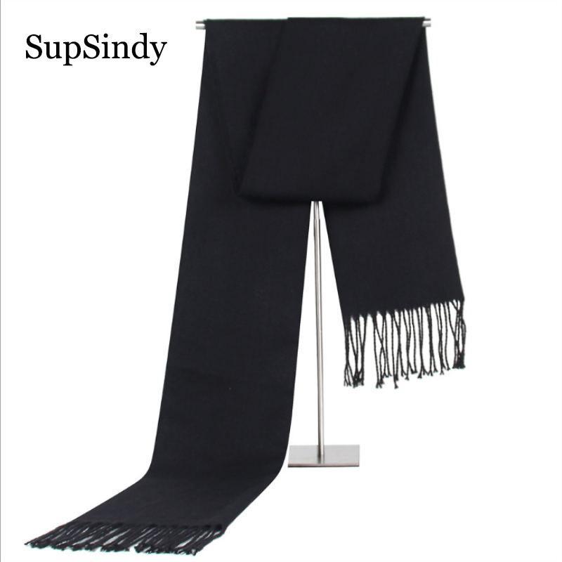 Acheter SupSindy Winter Foulard Homme Vintage Foulards Noirs Doux Châle De  Luxe Foulard En Cachemire Chaud Foulard En Acrylique Décontracté Pour Hommes  Avec ... f04a1d540d5