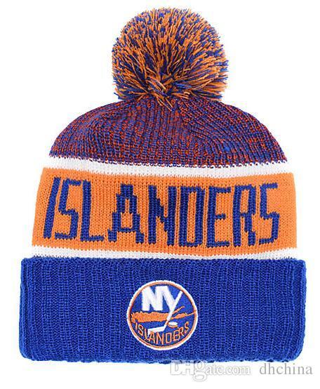 f2846b595e6 2019 New Beanies New York Islanders Hockey 2018 Hot Knit Beanie Pom Pom Knit  Hats Baseball Football Basketball Sport Beanie All Caps From Dhchina