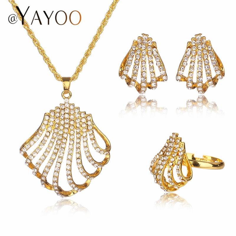 4acdd93e1a0 IFFURMON Nigerian Beads Necklace Jewelry Set For Wedding Women Party ...