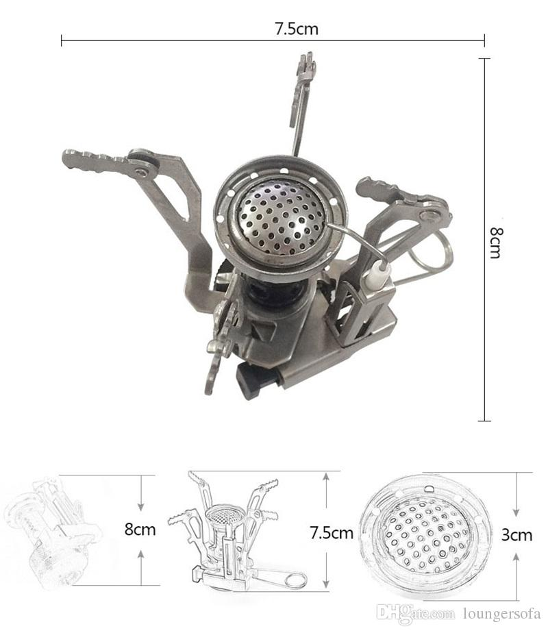 Folding BBQ Burner Stove Mini Pocket Cooking Tool For Outdoor Picnic Lunch Portable Stoves Lightweight Easy Carry Equipment 19 5hy ZZ