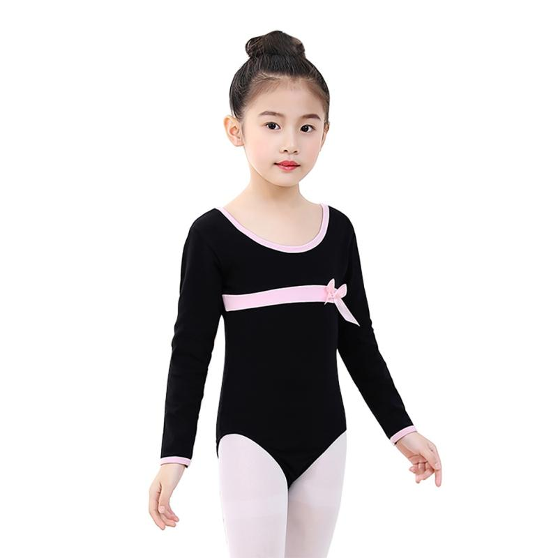 9974ad5bec 2018 Girls Ballet Leotards Dancewear Bodysuits Kids Children Long ...