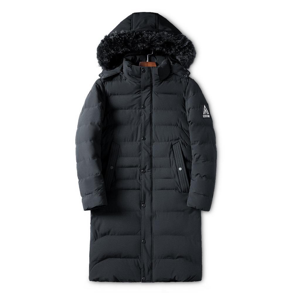 buy popular 06f40 0024e 2018 WWKK lange warme Winter Jacken Parkas Männer Mäntel Trenchcoats  männlichen dicken gepolsterten Mantel Alaska Jacke Outwear Hut abnehmbar