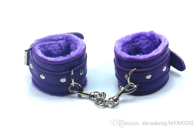Plush Handcuffs Sex Toys Leather With Chain SM Appliances Handcuffs RPG Beauty And Beast Women bdsm Bondage Erotic Toys Available