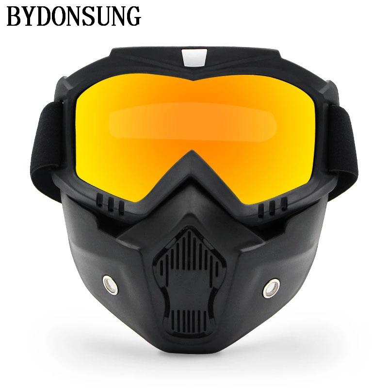 f140008b6d8 2019 Bicycle Bike Cycling Glasses Men Women Motorcycle Sport Snowboard Ski  Eyewear Men Wind Stopper With Detachable Face Mask Goggles From Kuyee