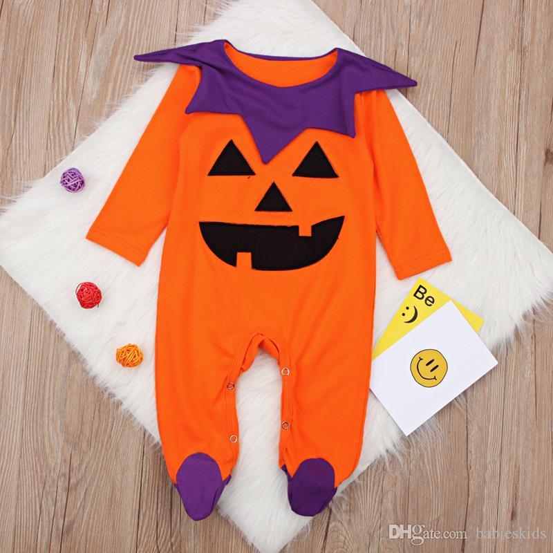 f64148a575c2 Halloween Newborn Kids Baby Boy Girls Romper Long Sleeve Pumpkin ...