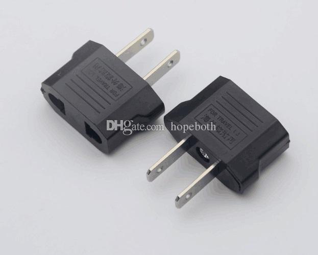 US USA To EU Euro AC Travel Power Socket Adapter Adaptor Converter 2 Pin Plug