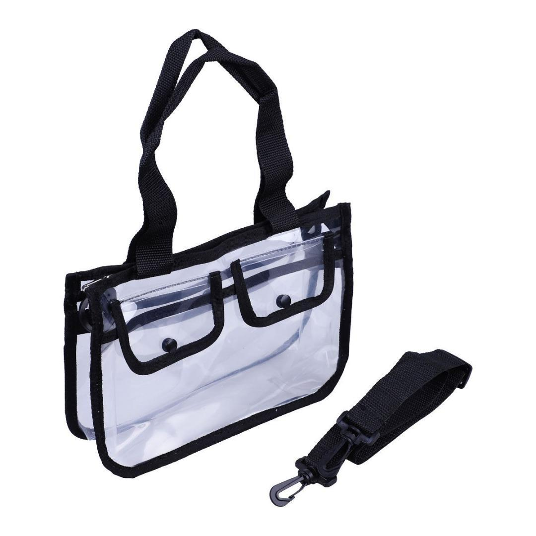 204bf9bb5d5b Clear Bag - Cross-Body Messenger Shoulder Bag with Adjustable Strap-The  clear tote with zipper closure is perfect for work