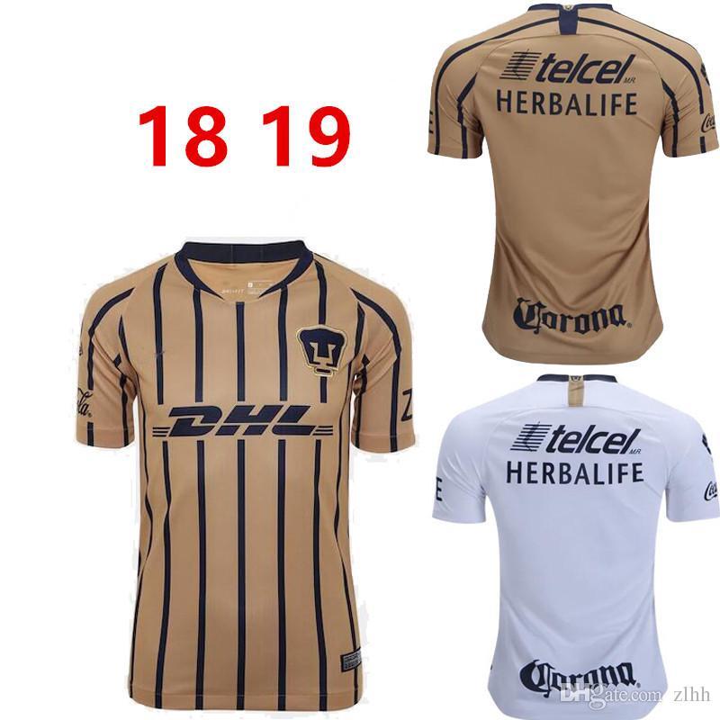 ebfcf2cf4 2019 Thailand Quality 2018 2019 UNAM PumasI Home Soccer Jersey Away Blue  Mexico Camisetas De Futbol Cougar Football Cortes Martinez Shirt.