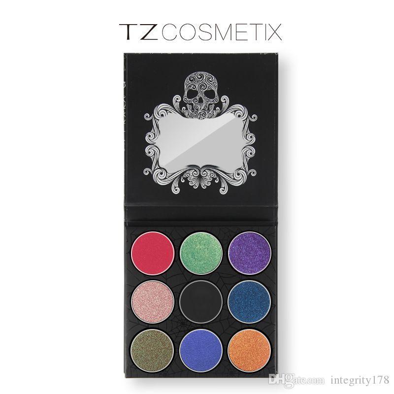 TZ براند 9 Colours Eyeshadow Palette Matte Diamond Glitter Foiled ظلال العيون في One Palette Blush Makeup Set للجمال
