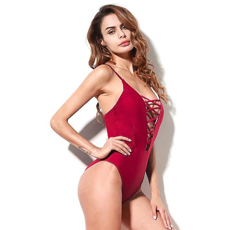 2fb4d8820de 2019 One Piece Swimsuit 2018 Summer Swim Wear Vintage Beach Wear Bandage Monokini  Swimsuit Sexy Swimwear Women Bodysuit Bathing Suit From Estartek2, ...