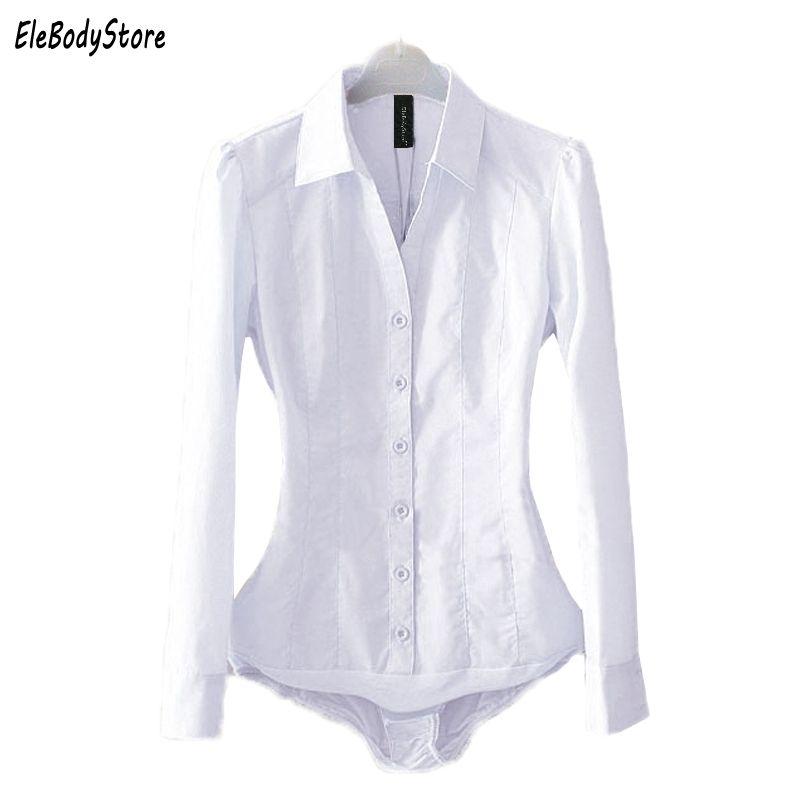 Großhandel Body Bluse Shirt 2018 Blusas Damen Bodysuit Blusen Tops