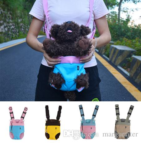 Pet Dog Cat Backpack Pet Carrier Soft Leather Kangaroo Mother Pet Dog Cat Bag Backpack Knapsack Puppy Carry Bag