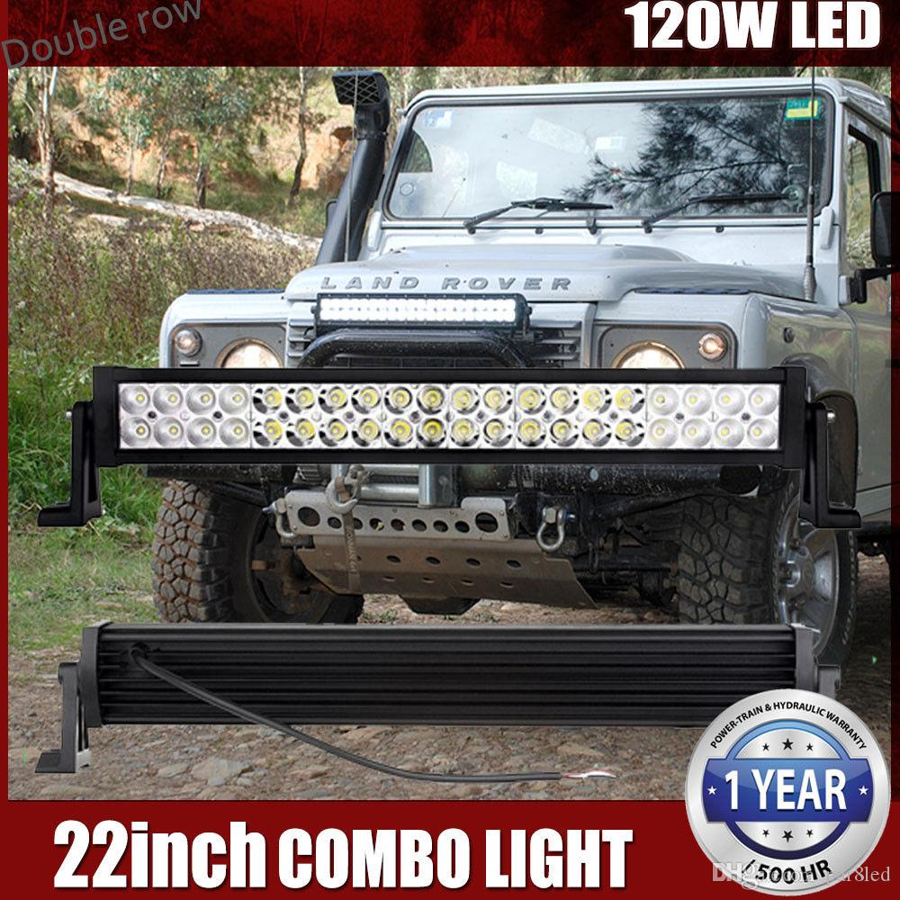 22inch 120w Led Light Bar Flood Spot Combo Work Light Driving Lights ...