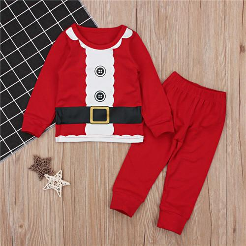 7ae628285 2019 Boys Kids Girls Toddler Baby Christmas Clothes Set Cotton ...