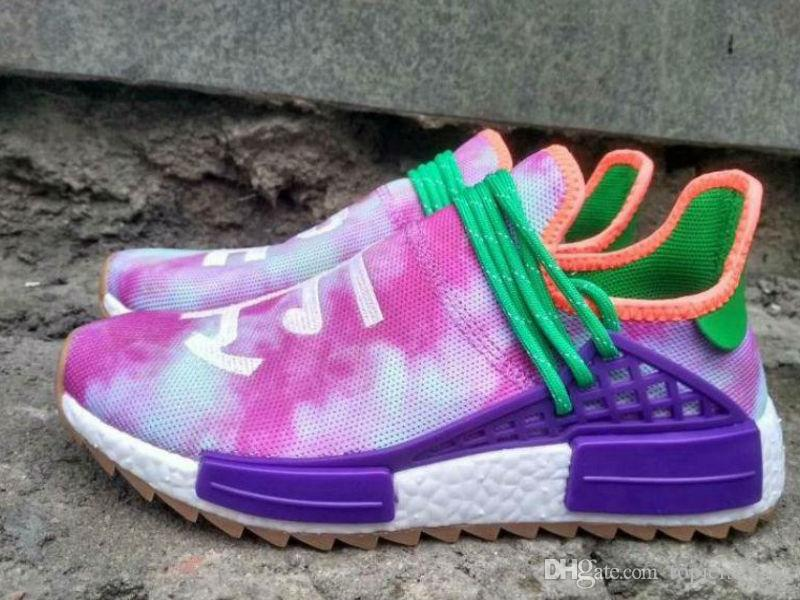 size 40 ca182 90be3 With Box Black Purple Equality Human Race Runner shoe Respira Holi Nerd  Colette Running Shoes HU Blank Cream Williams Pharrell sport sneaker