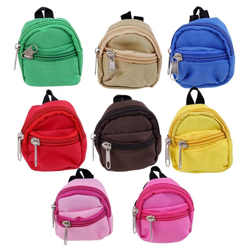 fb1bfa846f Acquista Carino Zipper Canvas Bag Zaino Bambole Fashion Mini Coin Bag Doll  Abbigliamento Dress Up Accessori A $37.66 Dal Babyeden | DHgate.Com