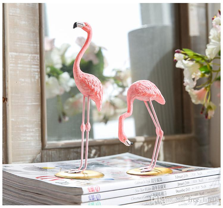Resin Pink Flamingo Home Decor Figure For Girl Ins Hot Gifts Canada 2019 From Free Life03 CAD 999