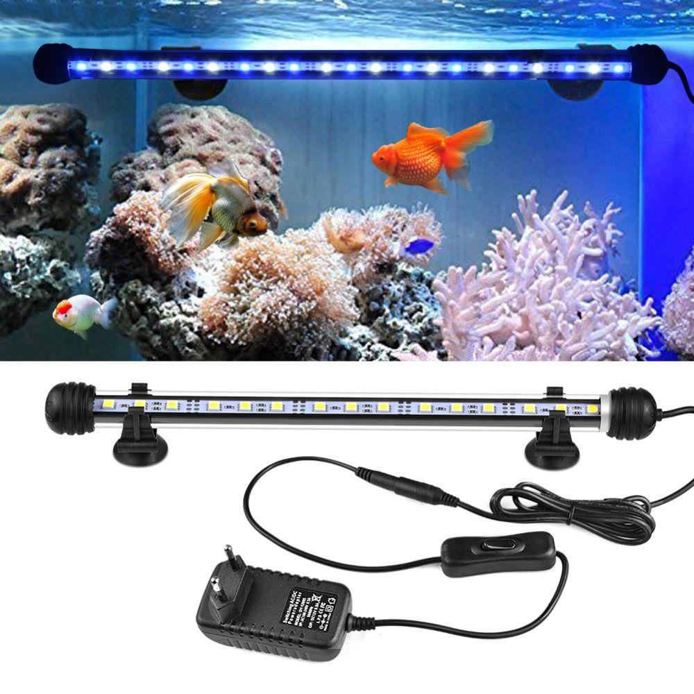 Led Underwater Lights Led Lamps Remote Controll 48cm 24led 5050smd Light Bar Submersible Strip Submarine Lamp Multicolor Rgb Aquarium Fish Tank Tube Waterproof