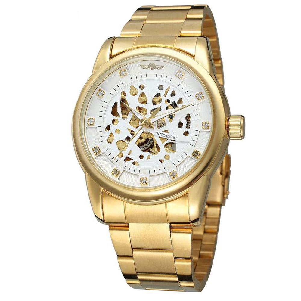 women new rhinestone crystal watch ladies wrist golden fashion quartz gold itm watches