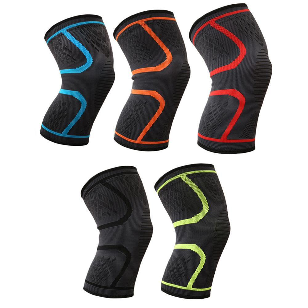 88da26f2cf 2018 Elastic Knee Brace Fitness Running Cycling Knee Support Nylon Sport  Compression Knee Pad Sleeve for Basketball Volleyball