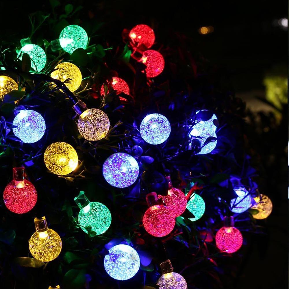Led Weihnachtskugeln.Weihnachtskugeln Dekoration Led String Kupferdraht Lichterkette Batterie Warm Weiß Bunte Birne Lampe Nützlich