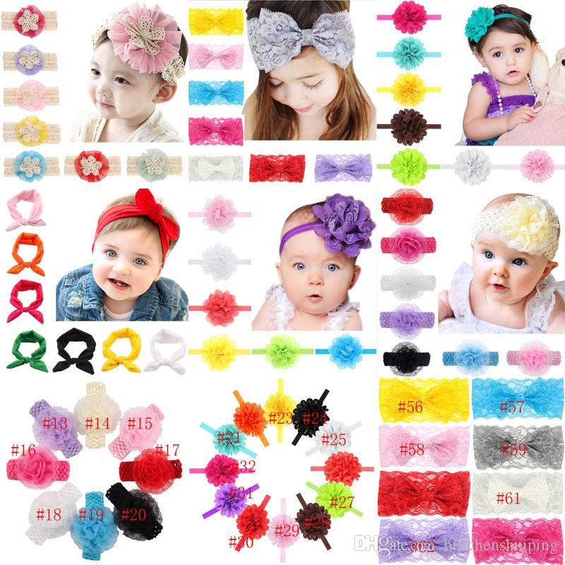 e9f6dce47e4 Hot Sale New Baby Girls Lace Floral Hair Band Elastic Bow Headband ...