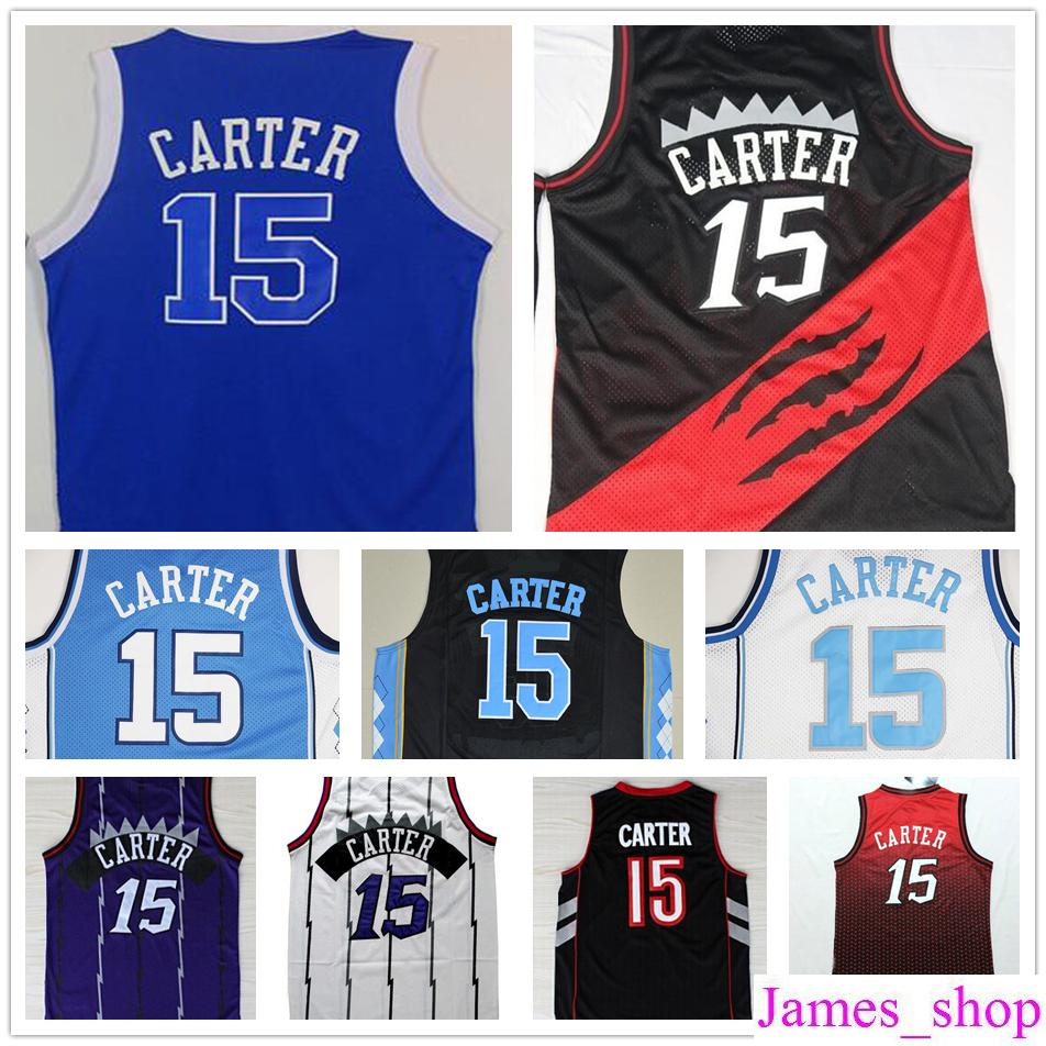 online cheap cheap north carolina 15 vince carter college jersey throwback 2017 new red blue stitche