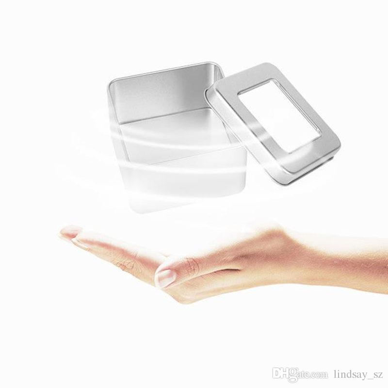 Square Tea Candy Storage Box Wedding Favor Tin Box Sundries Earphone Cable Organizer Container Receive Box Gift Case F20173286