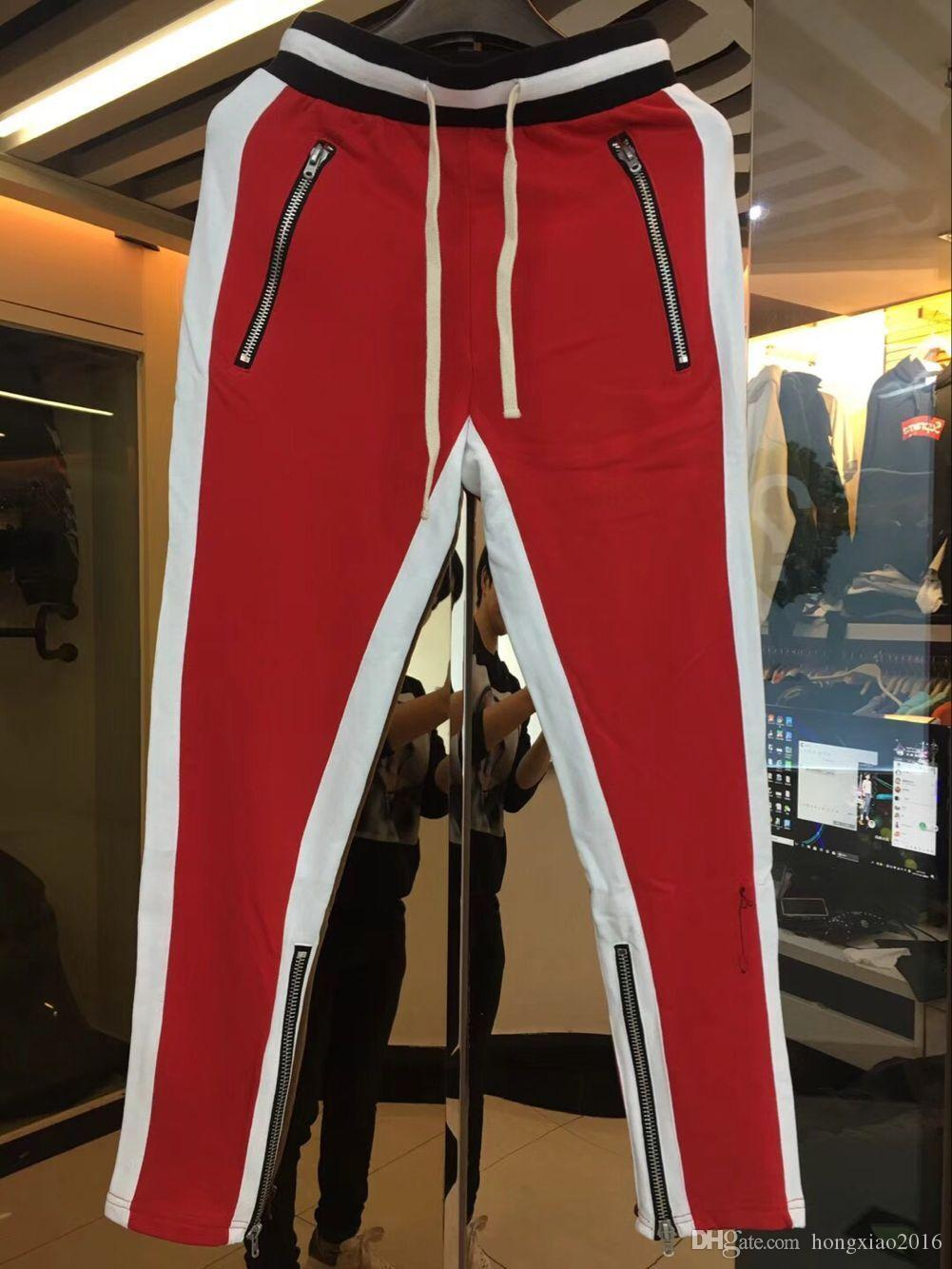 2018 New blue Colour Fear Of God Fifth Collection FOG Justin Bieber side zipper casual sweatpants men hiphop jogger pants !