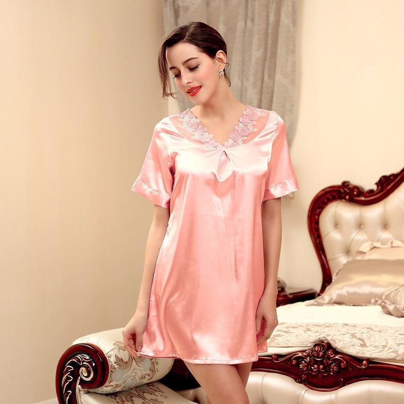 Home Wear Women s Summer Pajamas Women s Summer Casual Short-sleeved ... a5e468175