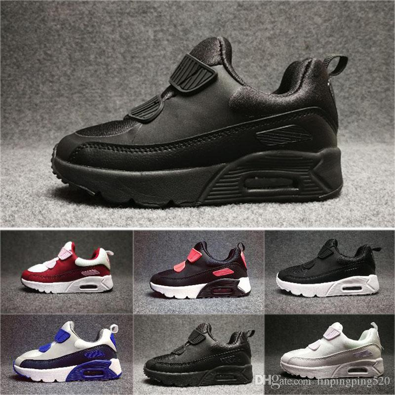 Nike air max 90 Kids Sneakers Schuhe classic 90 Laufschuhe Schwarz Weiß Sporttrainer Infant Girl Boy Trainer Kissen Oberfläche atmungsaktive
