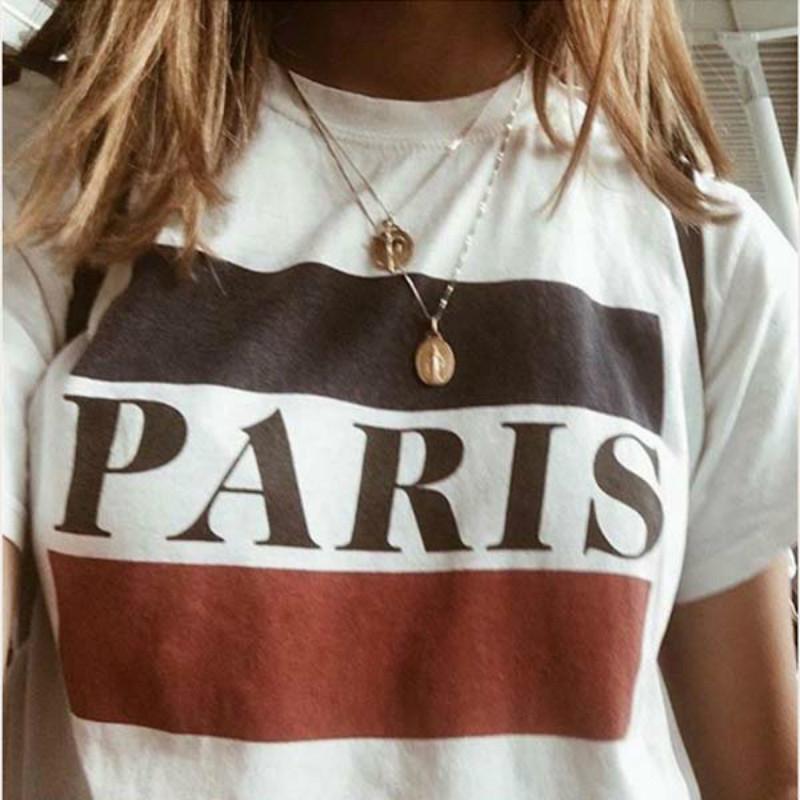 Satın Al Kadın Tumblr Grafik Beyaz Yaz Harajuku T Shirt Rahat
