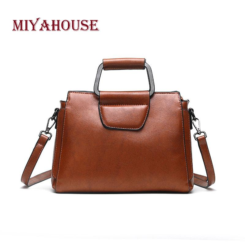 5dcf9d2fdcf2 Miyahouse Chinese Style Shoulder Bag For Women Genuine Leather Classic  Messenger Bag Solid Color Crossbody For Female
