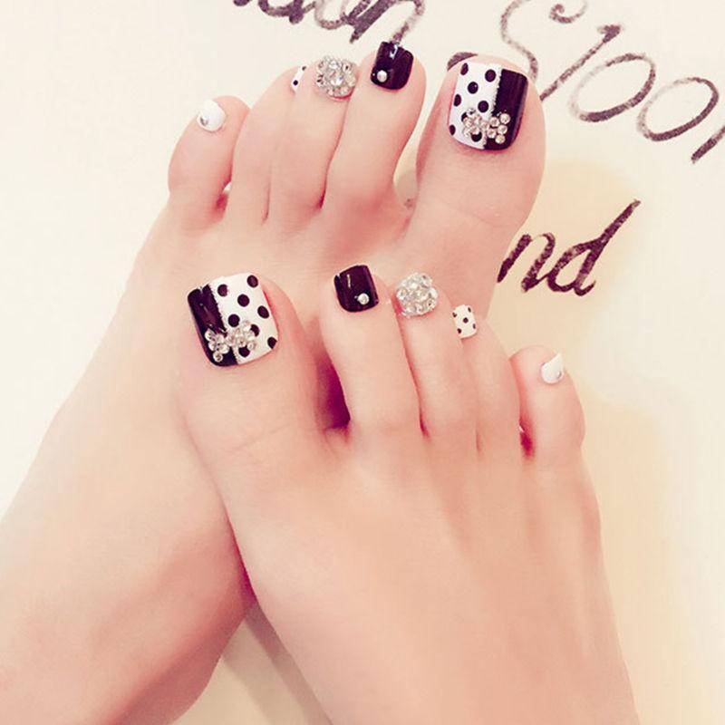 Cute Toenail Tips False Toe Nail Decals French Manicure Diy Nail