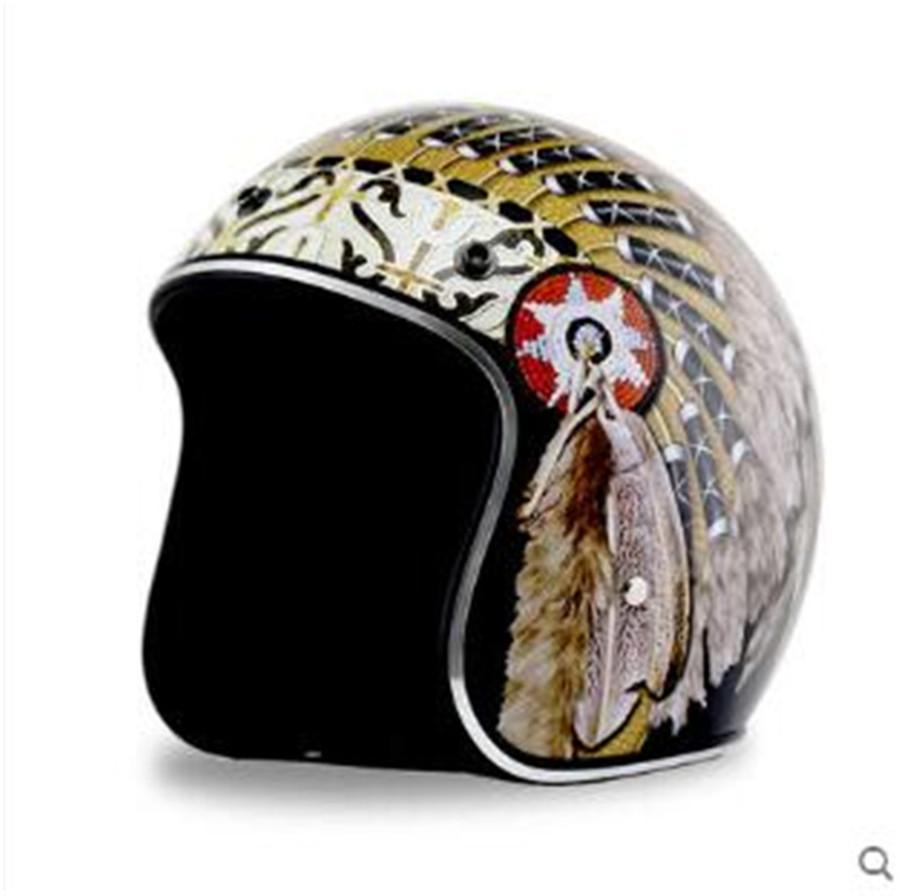 Vintage Motorcycle Helmets Custom With Gift Goggles D O T Approved