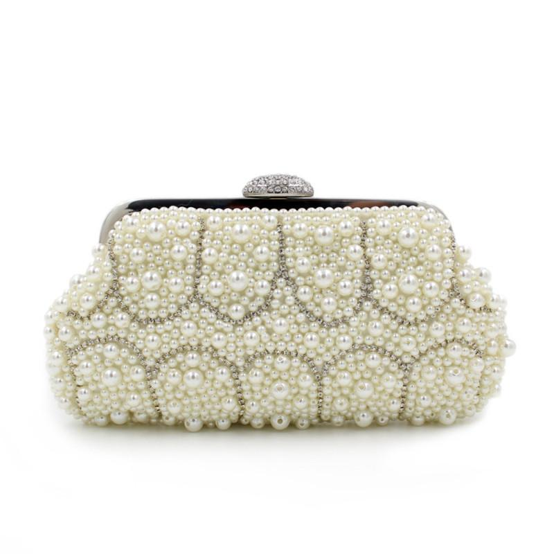 80359b8d51 Beaded Women Evening Bags Rose Imitation Pearl Women Clutch Evening Bags  With Chain Shoulder Small Purse Handbags For Wedding Name Brand Purses Cute  Purses ...
