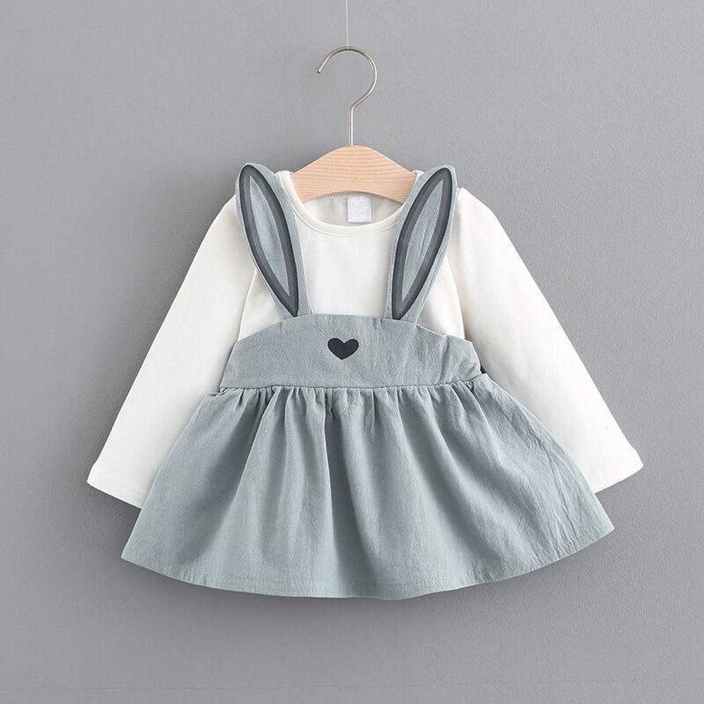 9ac3d61d08d4 2019 Dress Suit 0 3 Years Old Baby Girl Clothes Rabbit Bandage Roupa  Infantil Autumn Toddler Girl Cute 20 From Friendhi, $20.4   DHgate.Com
