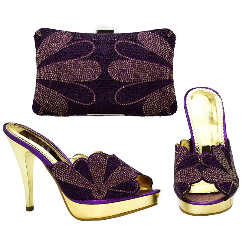 New Arrival Italian Shoes with Matching Bags Set Decorated with ... 409adcac05e4