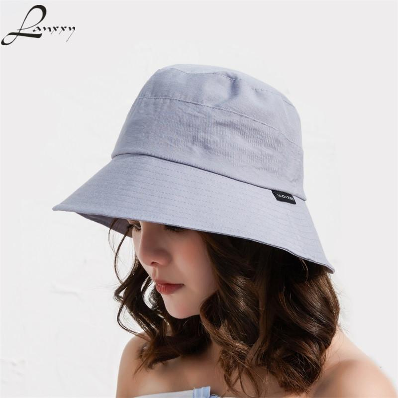 9f100b8f892 Lanxxy New Casual Women Men Bucket Hats Hip Hop Caps Fishing Hat Cotton  Panama Summer Hat Mens Straw Hats Mens Hat Styles From Value333