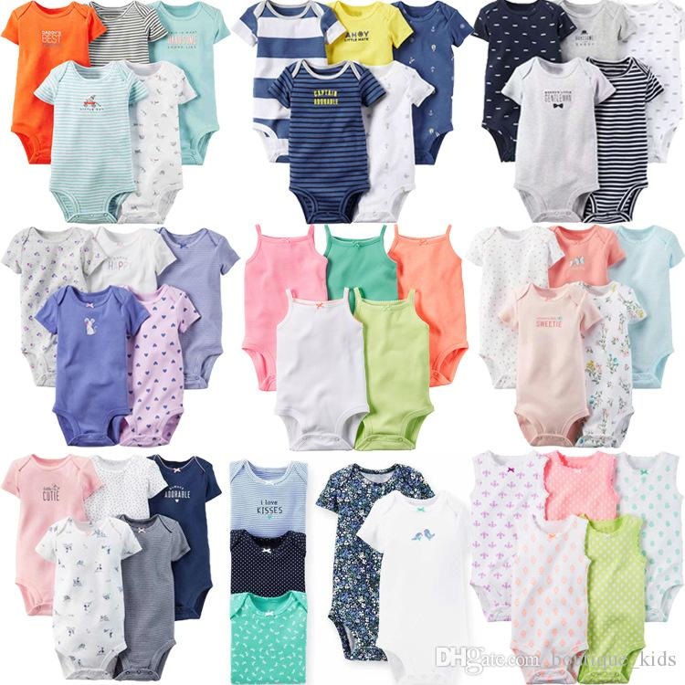 27c3d54b1 2019 Newborn Baby Clothes Infant Boys Girls Clothes Summer Baby ...