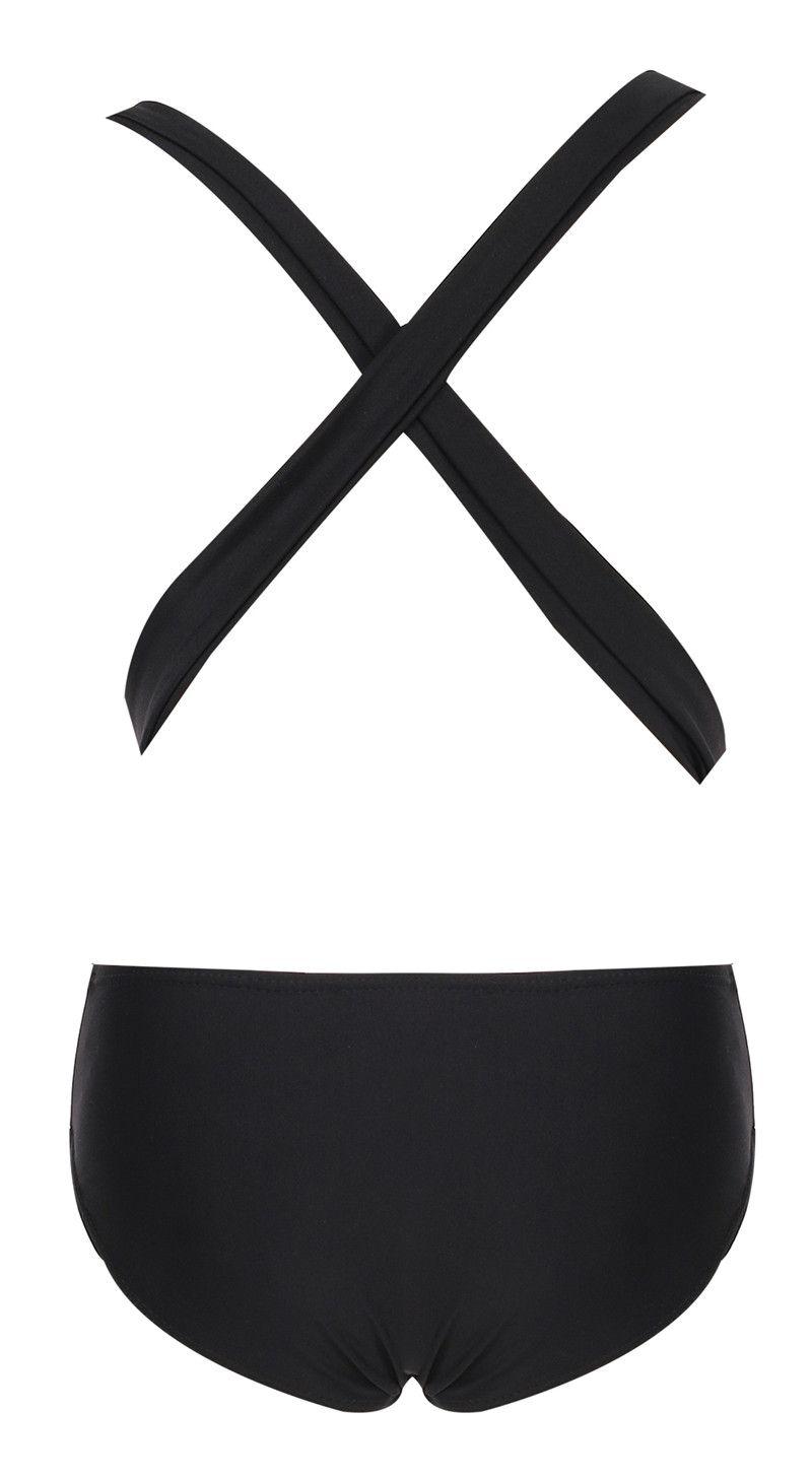 Red Black cross back bodysuit Monokini Sexy one piece swimsuit Backless Bathing suit swimming suit for women swimwear 2016