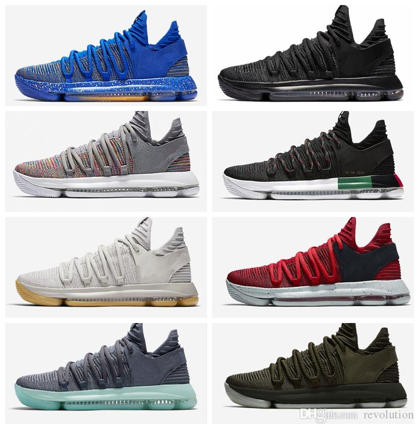 bffbbc4472ef With Original Box Zoom KD 10 Multi Color Oreo Numbers BHM Igloo Men  Basketball Shoes KD 10 X Elite Mid Kevin Durant Sport Sneakers Shoes Sports  Sports Shoes ...