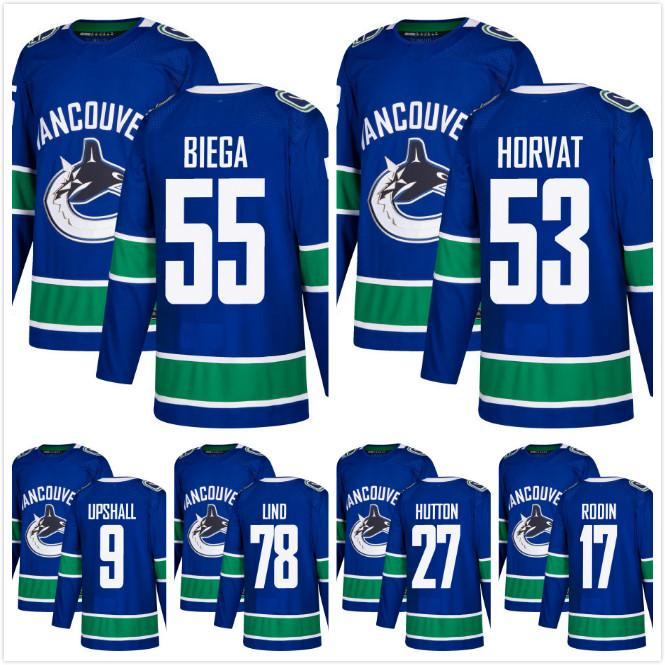 DISCOUNT! AD Vancouver Canucks 53 Bo Horvat Alex Biega 17 Anton ... 3bb03c671