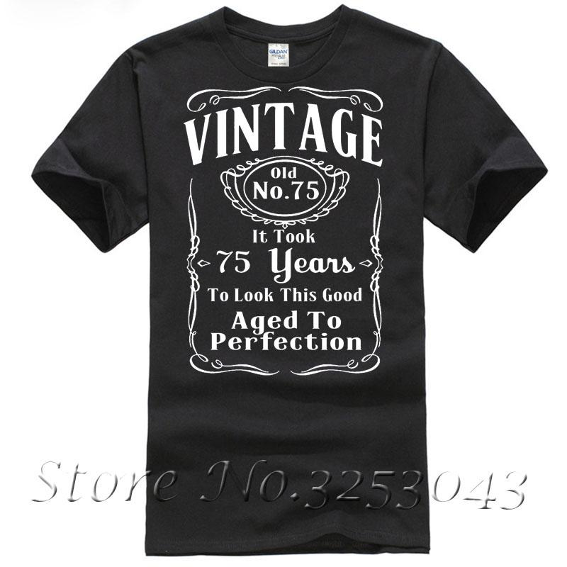 Vintage 75th Birthday T Shirt Funny Gift 75 Years Old Tees Unique Shirts From Bstdhgate03 1101