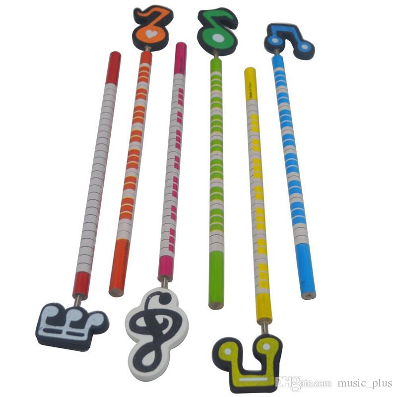 Cute Music Pencils Music Note and Piano Keyboard Themed Pencils School Stationery Gifts Set of