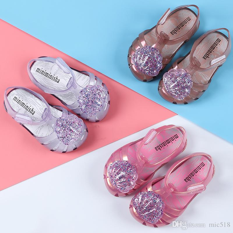 Mini Melissa Brand 2018 New Girl Jelly Sandals Roman Girl Sandals  Breathable Melissa Shoes Toddler Sandals 13.5 16.5cm Sheepskin Slipper Boys  Slippers Size ... f3ecf25165ac